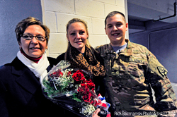 military surprise, homecoming, welcome home, army, elmira, jackals, ziff law