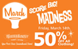 50% off all Clothing, Friday March 14th, 2014 at Thrift Town