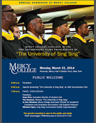 Mercy College Featured in the HBO Documentary Films Presentation of The University of Sing Sing