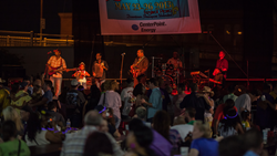 A photo of a Zydeco band performing