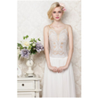 Rachael Rowes Special Embroidered White Sleeveless Chiffon Dress