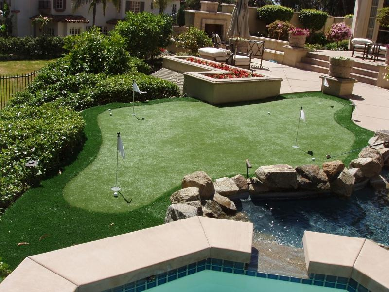 Backyard Turf Field :  Permeable Artificial Grass System at Pomona Home and Backyard Show