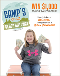 Win $1000 to help pay for summer camp.