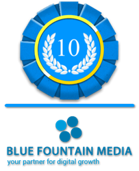 Blue Fountain Media: Best Web Design Firm Badge