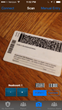 Use the iPhone's built in camera to scan PDF 417 and Code 128 bar codes with the iPhone's camera