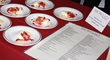 Morello serves yogurt panna cotta with fresh citrus, pomegranate, tarragon and semolina crumble at Greenwich Hospital's annual Great Chefs fundraiser.