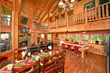 kitchen of log cabin