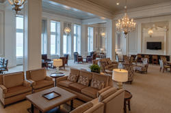The White Room lounge area at 850 Lake Shore Drive.