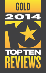 TopTenREVIEWS Gold Award