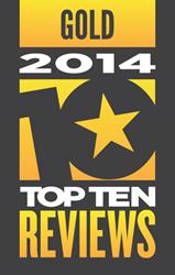 TopTenREVIEWS Gold Award
