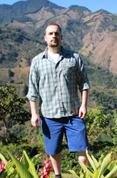 Crimson Cup Coffee and Training Specialist Brandon Bir on Costa Rican Coffee Farm.