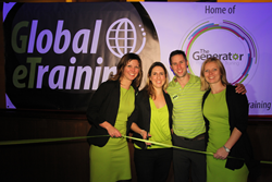 Global eTraining's executive team cut the ribbon at The Generator launch