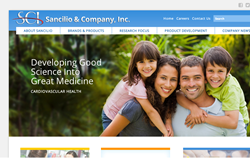 New Website for Sancilio & Company, Inc.