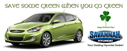 Save Money - Go Green with Savannah Hyundai