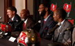 MJ Smiles with New Team Mates at Buccaneers Free Agent Press Conference