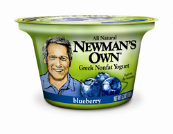 Newman's Own Greek Nonfat Blueberry Yogurt 5.3 oz. container