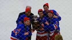Wooten's Hockey Team Receives the State Championship Trophy
