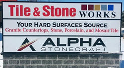 Tile & Stone Works second location at 7700 19 Mile Road, Sterling Heights, MI 48314.