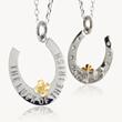 St Patricks Day pendant, Irish charm pendant, lucky irish charm pendant