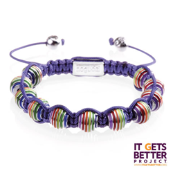Joseph Nogucci will donate 10 percent of its proceeds from the sale of the Rainbow Pride bracelet to the It Gets Better ™ Project.
