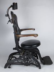 1800's WD Allison Cast Iron Leather Barber's Dental Medical Surgical Chair