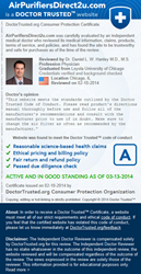 Air Purifiers Direct 2U LLC Receives Highest Rating from Dr. Daniel Hanley M.D., M.S.