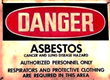 Asbestos Warning Sign