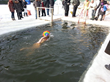 Ice swimming for the 5x50 in Moscow, Russia