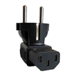 Europe Schuko CEE7 plug to IEC C13 receptacle right angle plug Adapter