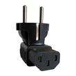 Europe Schuko CEE7 plug to IEC C13 receptacle right angle plug Adapter