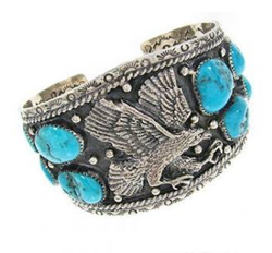Men S Turquoise Jewelry Spotlighted On