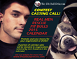 """The Pit Bull Princess Casting Call for the 2015 """"Real Men Rescue Pit Bulls"""" Calendar"""