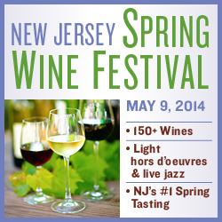 NJ Spring Wine Fest: 150+ wines, light hors d'oeuvres, and live jazz - Friday, May 9.