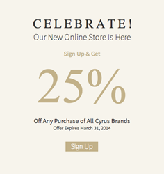Cyrus Rugs' Biggest Sale Ever