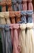 scarves pastels