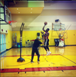 Dwayne Wade practicing with The Original Profender