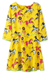 A-line Dress, Horse Dress, 3/4 Sleeve Dress