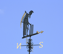 Father Time Weather Vane at Lord's