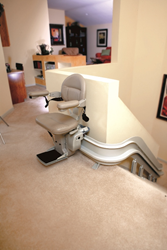 Curved Stair Lift from 101 Mobility