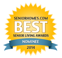SeniorHomes.com 2014 Best Senior Living Awards Nominee Badge
