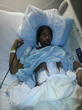 Ahmad during recovery from surgery