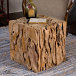 Teak Root Bunching Cube 25592 From Uttermost