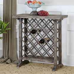Uttermost Annileise Wooden Wine Table 24354