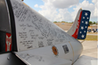 United States Military Tribute Plane with Veteran Signatures.