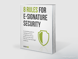 "SIGNiX has published a new eBook ""8 Rules for E-Signature Security"""