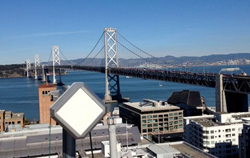 Athena Wireless A060-Mini Backhaul Link deployment at Oakland Bay Bridge
