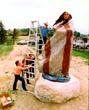 Harry Jackson's Sacajawea installation in Cody, Wyoming