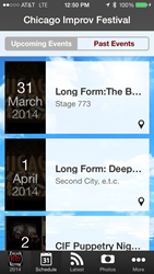 Chicago Improv Festival iPhone app