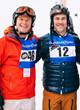 Event Chair Billy Bush and Actor James Van Der Beek at Operation Smile's 3rd Annual Park City Celebrity Ski & Smile Challenge which raised over $380,000 to heal smiles.