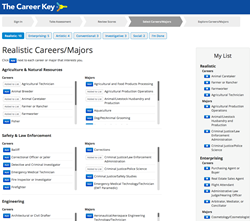 career interest inventory, career options